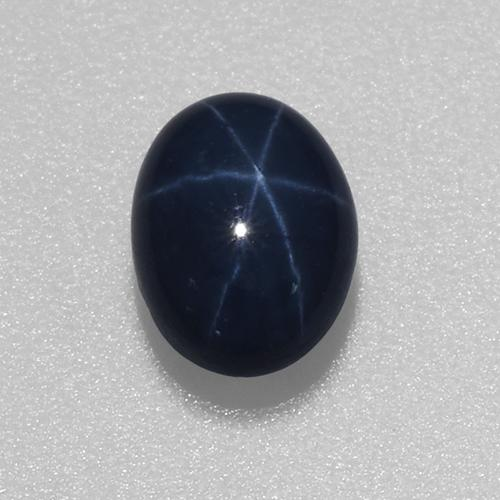 1.2ct Oval Cabochon Deep Navy Blue Star Sapphire Gem (ID: 519733)