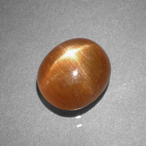 Buy 1.38 ct Golden-Brown Star Sunstone 7.47 mm x 6.5 mm from GemSelect (Product ID: 277219)