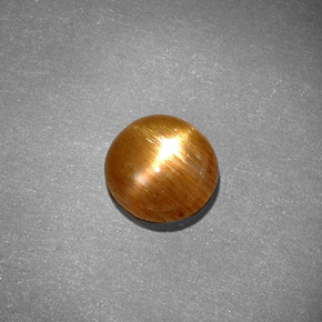 Buy 0.97ct Golden-Brown Star Sunstone 7.37mm x 7.20mm from GemSelect (Product ID: 285160)