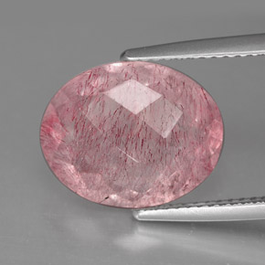 Buy 5.72 ct Red Pink Strawberry Quartz 13.60 mm x 11 mm from GemSelect (Product ID: 291148)
