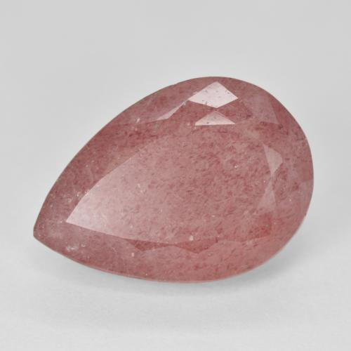 Red Strawberry Quartz Gem - 12.9ct Pear Facet (ID: 473005)
