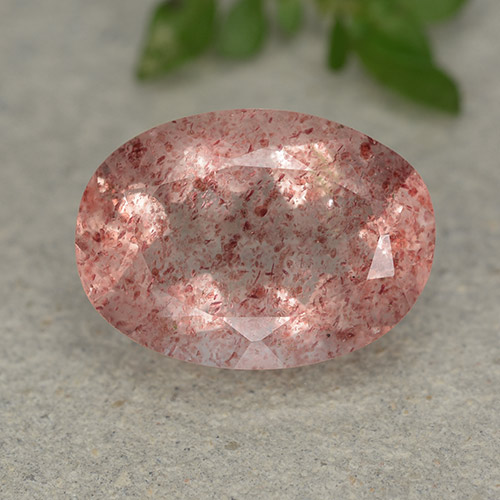 Medium-Light Pink Cuarzo Fresa Gema - 5.5ct Forma ovalada (ID: 490561)