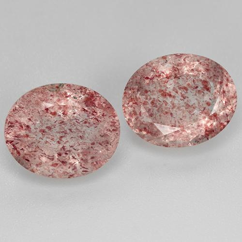 Red Strawberry Quartz Gem - 3.7ct Oval Facet (ID: 514077)