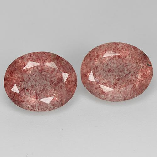 Medium Pink Strawberry Quartz Gem - 3.1ct Oval Facet (ID: 514081)