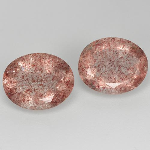 Red Strawberry Quartz Gem - 3.2ct Oval Facet (ID: 514086)