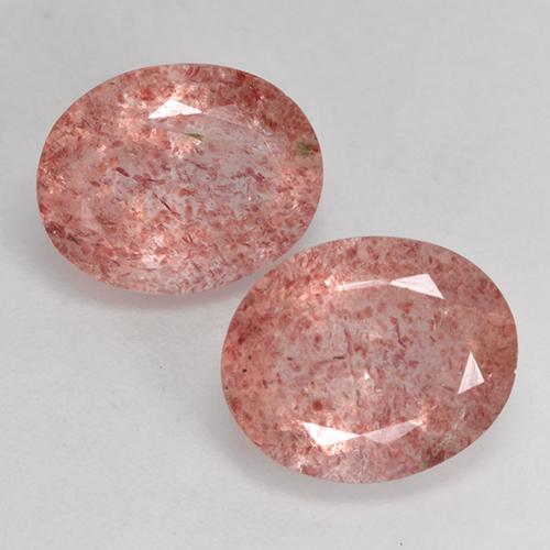 Red Strawberry Quartz Gem - 3.2ct Oval Facet (ID: 526129)