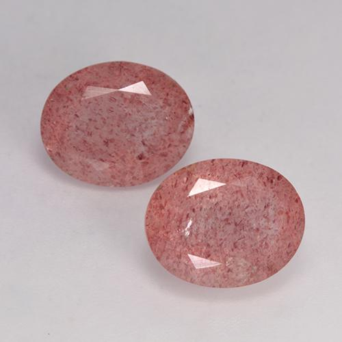 Medium Pink Strawberry Quartz Gem - 3.5ct Oval Facet (ID: 526435)