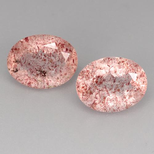 Medium Pink Quarzo fragola Gem - 1.7ct Ovale sfaccettato (ID: 526871)