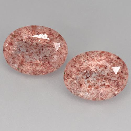Medium Pink Strawberry Quartz Gem - 1.8ct Oval Facet (ID: 526872)