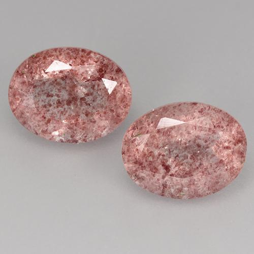 Medium-Light Pink Strawberry Quartz Gem - 1.8ct Oval Facet (ID: 526876)