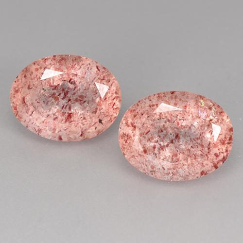 Light Rose Pink Strawberry Quartz Gem - 1.9ct Oval Facet (ID: 526879)