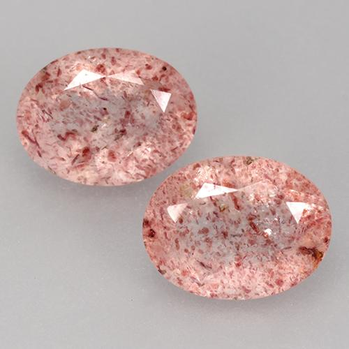 Light Rose Pink Strawberry Quartz Gem - 1.8ct Oval Facet (ID: 527658)