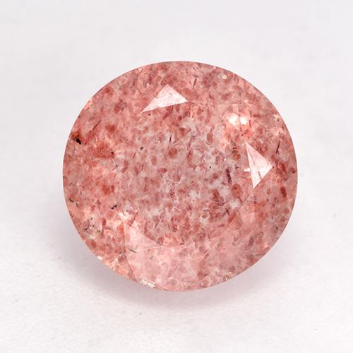 Medium Pink Strawberry Quartz Gem - 3.7ct Round Facet (ID: 532517)