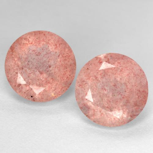 Medium-Light Pink Cuarzo Fresa Gema - 2.9ct Faceta Redonda (ID: 545029)