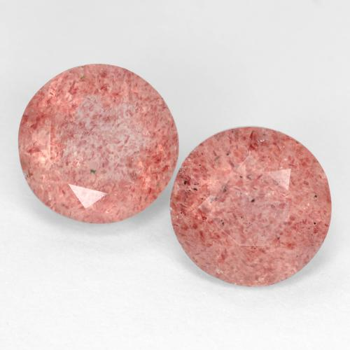 Medium Pink Strawberry Quartz Gem - 2.5ct Round Facet (ID: 545032)