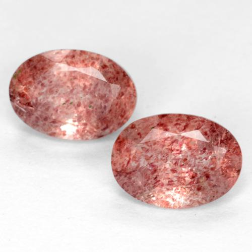 Bright Pink Strawberry Quartz Gem - 0.8ct Oval Facet (ID: 551348)