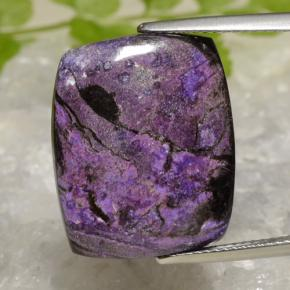 15.5ct Cushion Cabochon Dark Violet Sugilite Gem (ID: 472358)