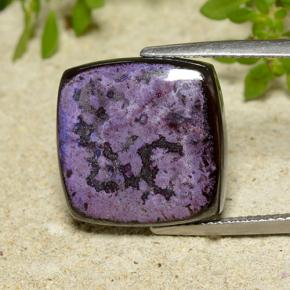 Multicolor Sugilite Gem - 17.5ct Square Cabochon (ID: 497864)