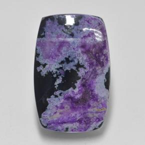 Deep Violet Sugilite Gem - 24.1ct Cushion Cabochon (ID: 503645)
