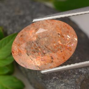 Ginger Orange Piedra del Sol Gema - 5.8ct Forma ovalada (ID: 476293)