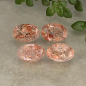 Orange Sunstone Gem - 0.5ct Oval Facet (ID: 480227)