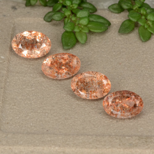 Orange Sunstone Gem - 0.6ct Oval Facet (ID: 480355)