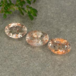 0.5ct Oval Facet Orange Sunstone Gem (ID: 480400)
