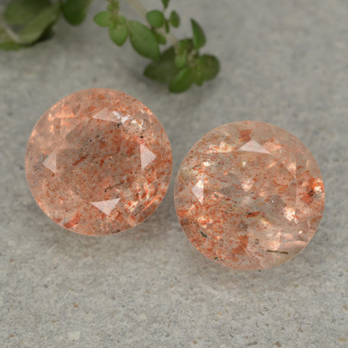 Orange Sunstone Gem - 2.8ct Round Facet (ID: 480762)