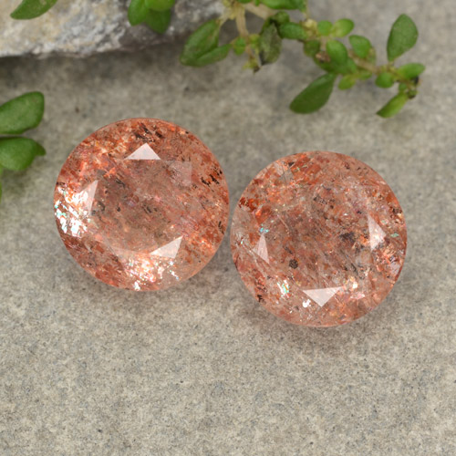 Orange Sunstone Gem - 2.7ct Round Facet (ID: 480795)