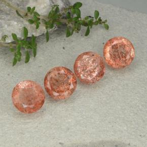 Orange Sunstone Gem - 2.6ct Round Facet (ID: 480902)
