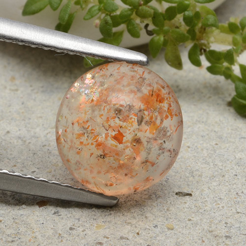 Orange Sunstone Gem - 1.8ct Round Cabochon (ID: 482125)