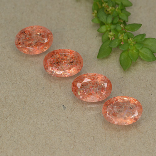 Orange Sunstone Gem - 0.7ct Oval Facet (ID: 497868)