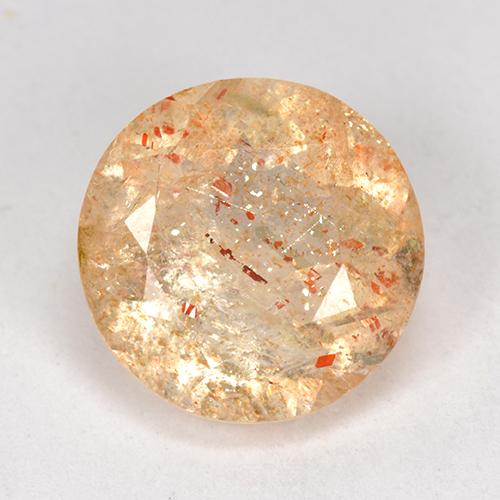 Orange Sunstone Gem - 4.1ct Round Facet (ID: 518220)
