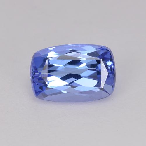 Violet Blue Tanzanite Gem - 1ct Cushion-Cut (ID: 240071)
