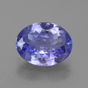 Medium Blue Tanzanite Gem - 2.1ct Ovale sfaccettato (ID: 254317)
