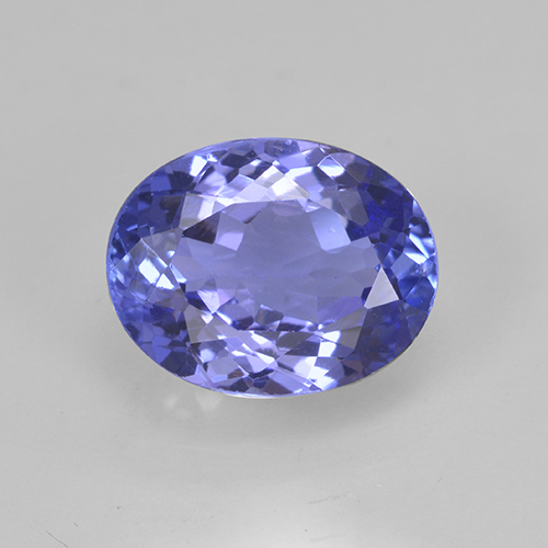 Intense Violet Blue Tanzanite Gem - 2.2ct Ovale sfaccettato (ID: 254320)