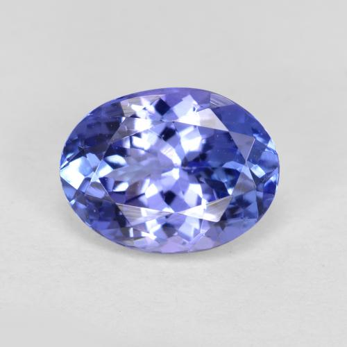 1.5ct Oval Facet Intense Violet Blue Tanzanite Gem (ID: 280427)