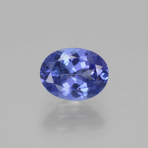 1.3ct Oval Facet Medium Navy Blue Tanzanite Gem (ID: 280429)