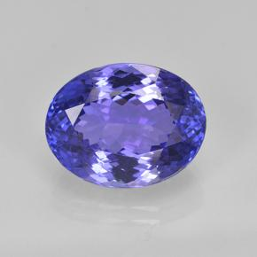 6.3ct Oval Facet Intense Violet Blue Tanzanite Gem (ID: 288148)