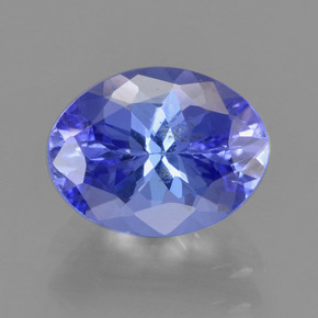 Violet Blue Tanzanite Gem - 1.7ct Oval Facet (ID: 291325)