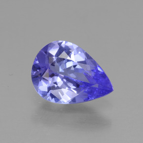 0.95 ct Pear Facet Violet Blue Tanzanite Gemstone 8.11 mm x 5.9 mm (Product ID: 295075)