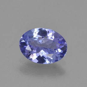 Violet Blue Tanzanite Gem - 1.1ct Oval Facet (ID: 295952)