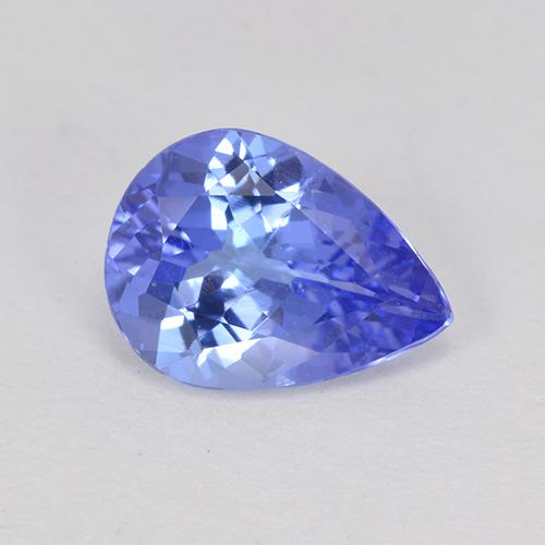 Deep Blue Tanzanite Gem - 1ct Pear Facet (ID: 301091)