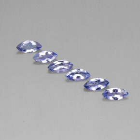 Violet Blue Tanzanite Gem - 0.3ct Marquise Facet (ID: 310945)