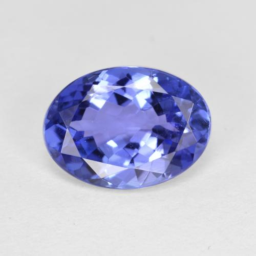 Violet Blue Tanzanite Gem - 2.2ct Oval Facet (ID: 337294)