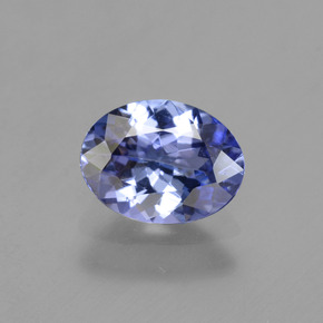 Medium Navy Blue Tanzanite Gem - 1.2ct Ovale sfaccettato (ID: 342197)