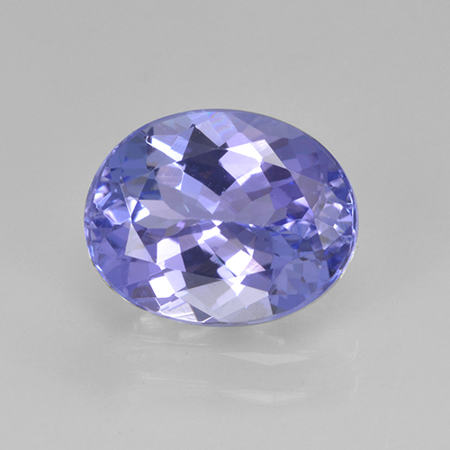 2ct Oval Facet Intense Violet Blue Tanzanite Gem (ID: 345623)