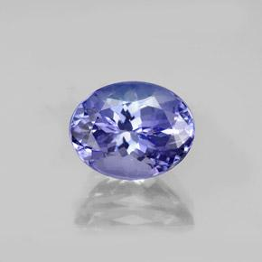 2.47 ct Oval Facet Violet Blue Tanzanite Gemstone 9.16 mm x 7.2 mm (Product ID: 345629)
