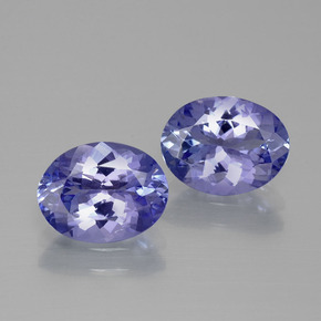 1.7ct Oval Facet Intense Violet Blue Tanzanite Gem (ID: 345687)