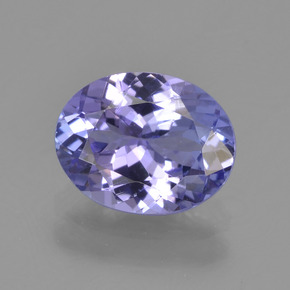Silverish Blue Tanzanite Gem - 2ct Ovale sfaccettato (ID: 345731)